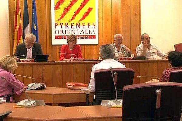 Perpignan - session du conseil départemental des Pyrénées-Orientales - 2016.