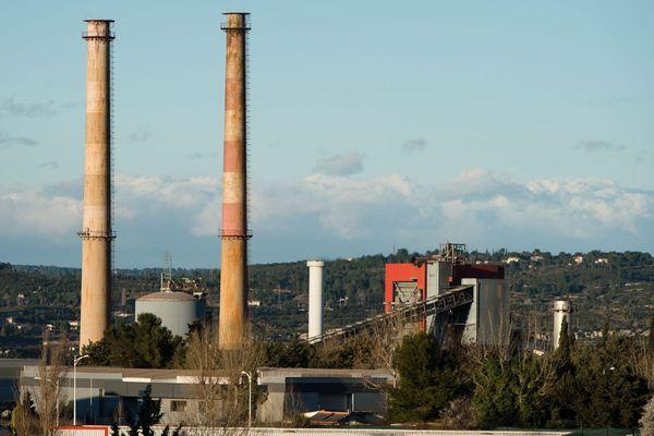 Illustration - L'usine d'alumine Alteo à Gardanne (Bouches-du-Rhône).