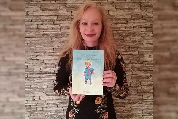 """Cécile Lauffenburger, auteure de """"Nathan et le ballon enchanté""""."""