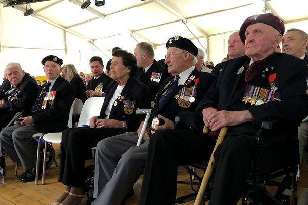 Des vétérans anglais et américains ont assisté à la cérémonie hommage au Forum mondial Normandie pour la Paix, mercredi 5 juin 2019.