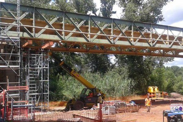 Brignac (Hérault) - le pont de Cambous en travaux - archives