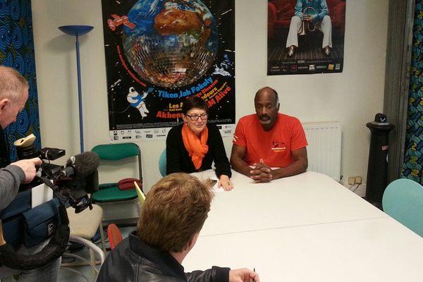 Véronique Appel et Eddie Harris lors de la conférence de presse donnée hier à Angoulême.