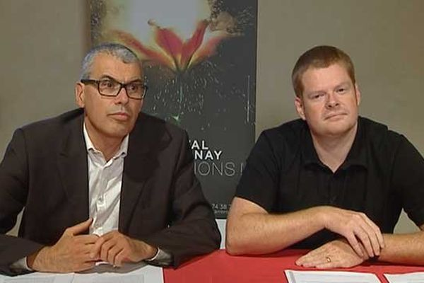 Daniel Bizeray, directeur du festival d'Ambronay et Pierre Bornachot, coordinateur artistique du festival