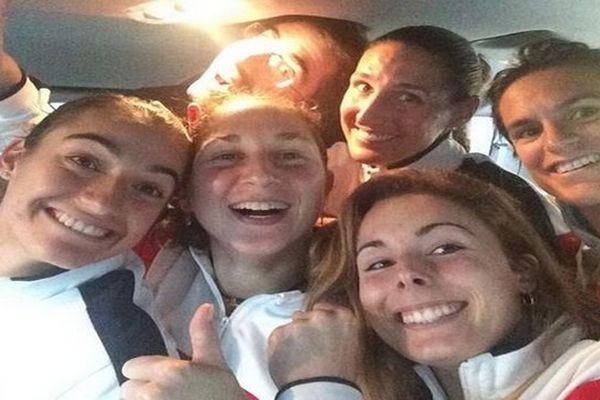 Selfie de l'équipe de France de tennis