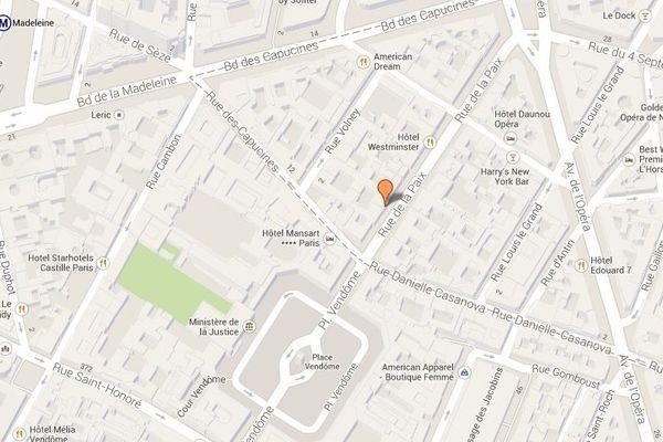 La rue de la Paix, dans le 2e arrondissement de Paris.
