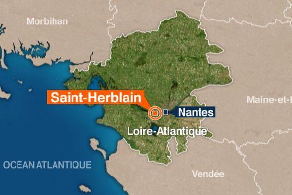Les faits se sont déroulés sur la commune de Saint-Herblain près de Nantes