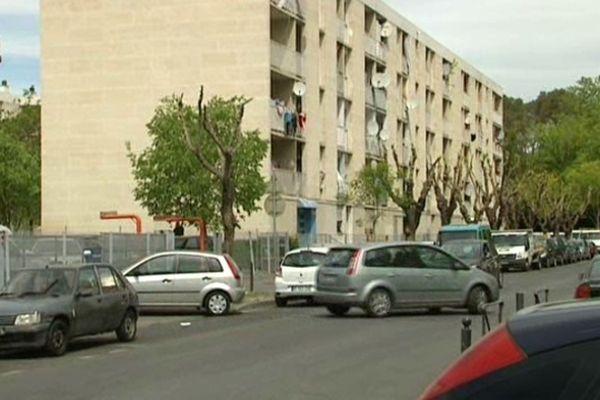 L'immeuble du quartier de la Paillade où a eu lieu l'arrestation