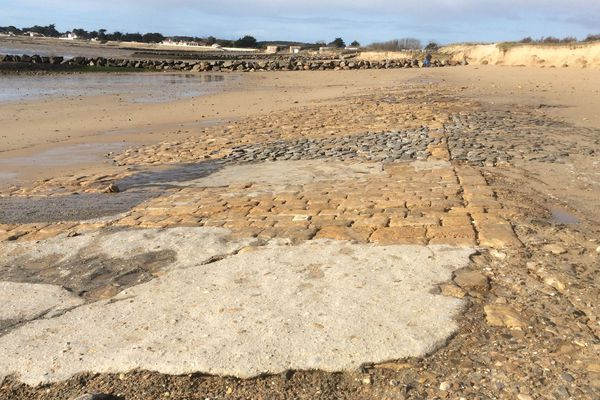 La plage de la Cantine à Noirmoutier, le 12 février 2020