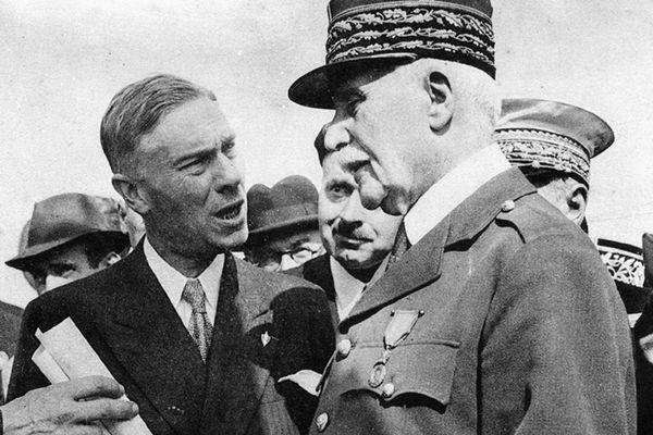 André Faure et Philippe Pétain à Limoges le 20 juin 1941