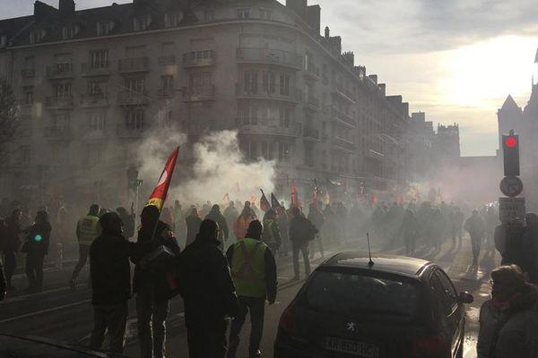 Nouvelle manifestation contre le projet de réforme des retraites ce jeudi matin dans les rues de Caen