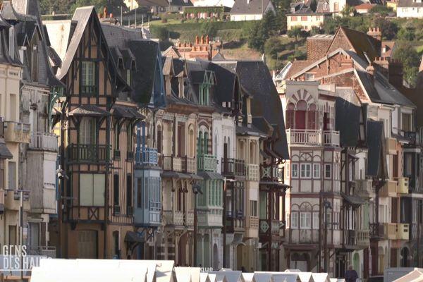 Les villas du front de mer de Mers-les-Bains