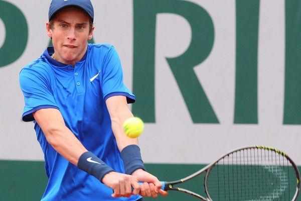 Le Français Geoffrey Blancaneau,x vainqueur à 17 ans du tournoi junoir masculin de Roland Garros