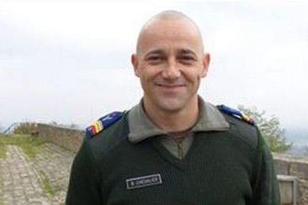 Le brigadier-chef Bruno Chevalier de l'état-major interarmées de force et d'entraînement de Creil