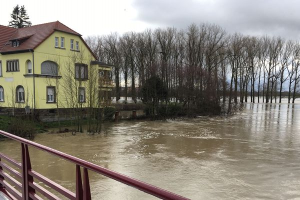 Inondations à Sarralbe (Moselle)