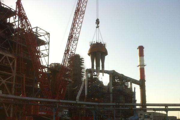 La raffinerie est à l'arrêt depuis le 04 mai.