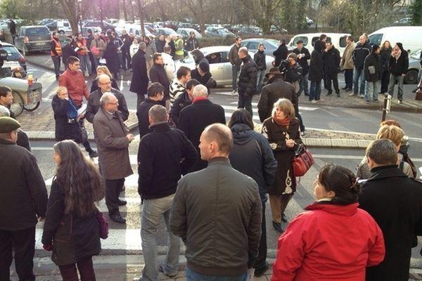 Il y a deux semaines, en marge de l'audience au tribunal de commerce, plusieurs dizaines de Châlonnais s'étaient rassemblés en guise de soutien aux salariés