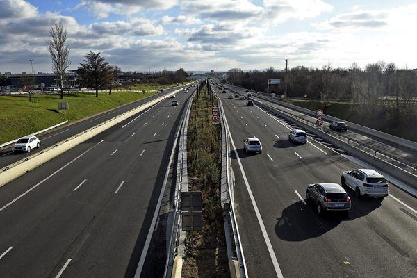 L'autoroute A7 aux environs de Lyon, image d'illustration.
