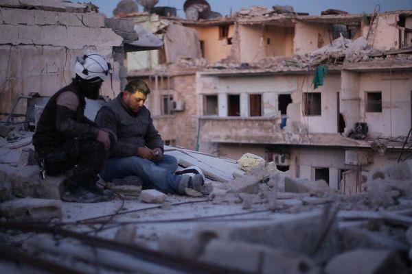 "Une vue du film ""Last men in Aleppo"""