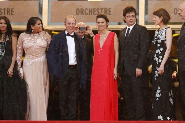 Michelle Thrush, Misty Upham, Arnaud Desplechin, la Ministre de la Culture Aurelie Filippetti, Benicio del Toro, Gina McKee et l'écrivain Kent Jones