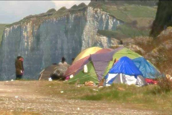 Archive : tentes de migrants à Dieppe