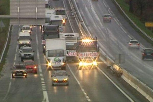 Le 30 novembre dans le Puy-de-Dôme, une dizaine de chauffeurs routiers se sont mobilisés entre Clermont-Ferrand et Issoire. Une nouvelle action est prévue dans le département de l'Alllier.
