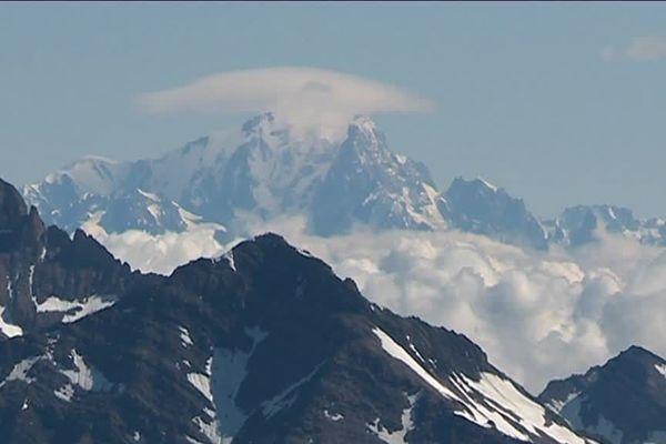 le Mont Blanc vu du Glacier de la Girose