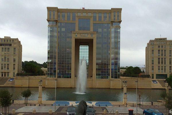 Montpellier - l'hôtel de région - novembre 2016.
