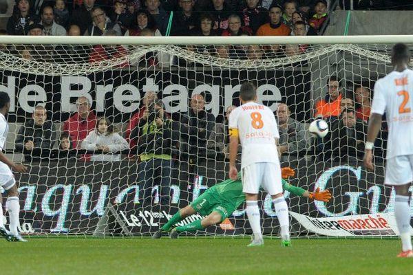 Le FC Lorient à l'assaut des buts de l'En Avant Guingamp