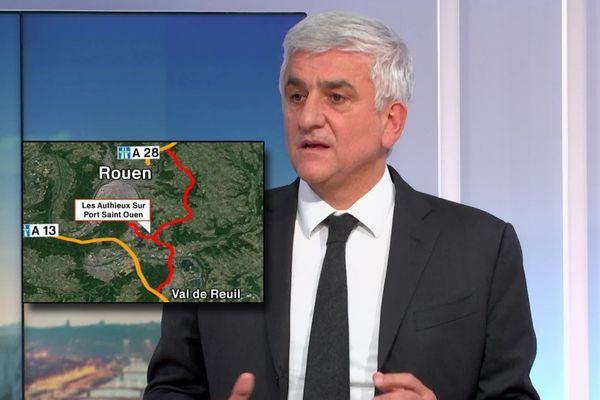 26 novembre 2020 : Hervé Morin annonce ses propositions sur le contournement de Rouen en direct dans le JT de France 3 Normandie