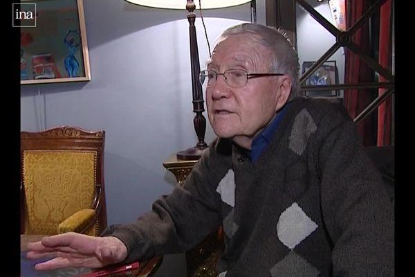 Le peintre René Quéré en 2008