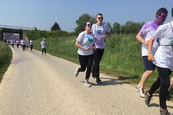 La course a réuni près de 300 personnes.