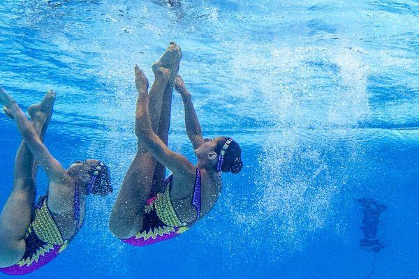 Margaux Chrétien et Laura Auge lors des championnats du monde en juillet dernier