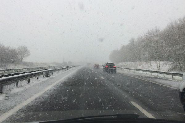 La neige sur les routes de Vendée, février 2018