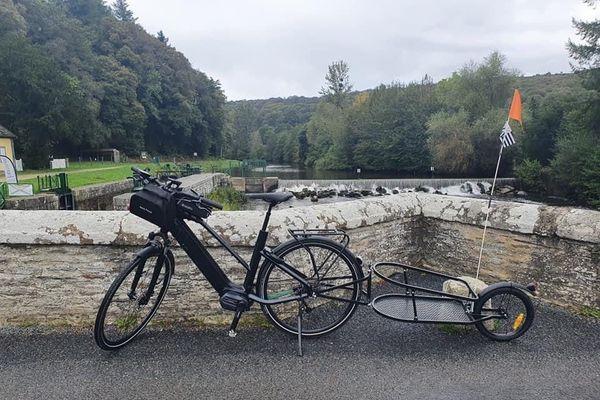 Le vélo de Christophe Le Fur à quelques jours du départ pour sa Vélodyssée