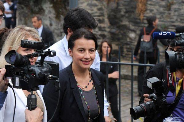 Cécile Duflot à son arrivée au journée parlementaire d'Europe Ecologie les Verts