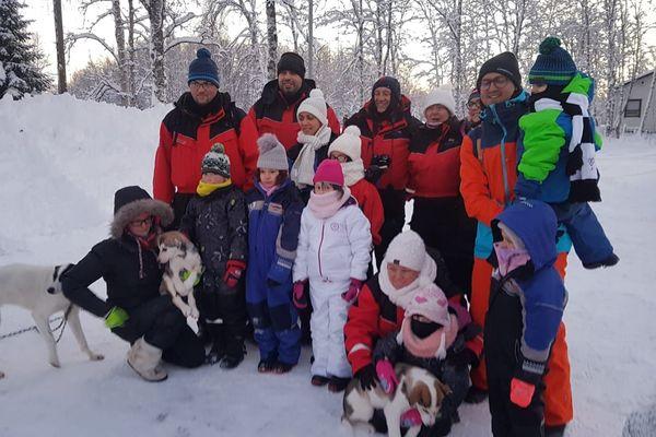 Le groupe de jeunes Lorrains partis en Laponie.