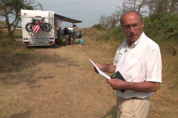 Le maire de Portbail a été agressé le 6 août près de cette pinède par des jeunes qui faisaient du camping sauvage.
