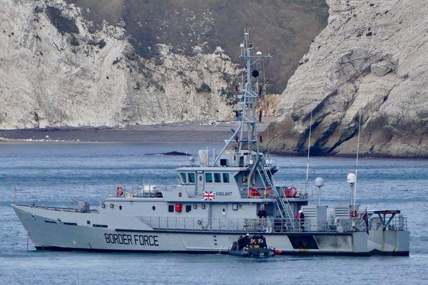 """Le navire """"Vigilant"""" de la Border Force britannique a été sollicité tôt ce matin."""