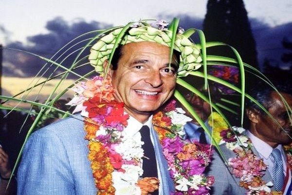 Jacques Chirac à Tahiti en 1986