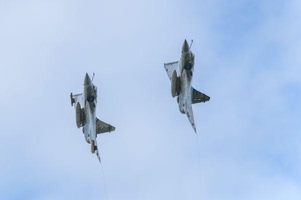 Les Mirages en démonstration lors du meeting aérien de la BA116