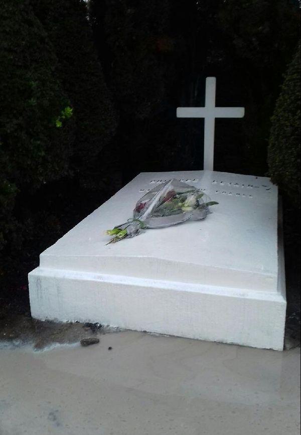 Photo de la tombe du maréchal Pétain, le 11 novembre 2018