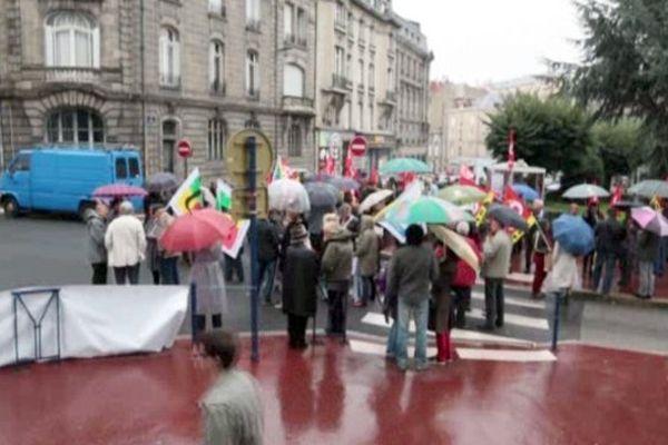 Limoges : mobilisation symbolique contre la réfome des retraites