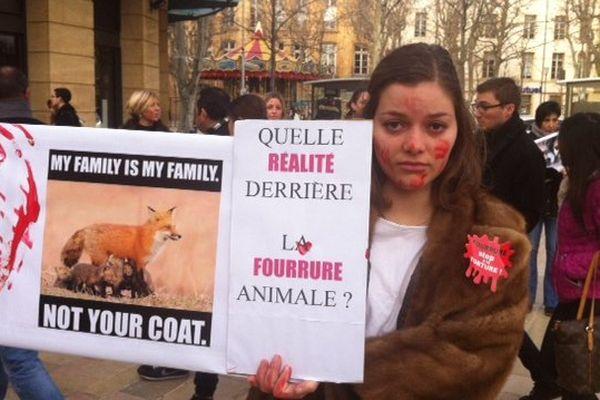 manifestation anti-fourrure à aix