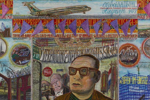 """Willem van Genk est l'un des artistes présentés dans le cadre de l'exposition """"'Sous le vent de l'art brut 2'', Collection de Stadshof, jusqu'au 4 janvier à la Halle Saint Pierre à Paris."""