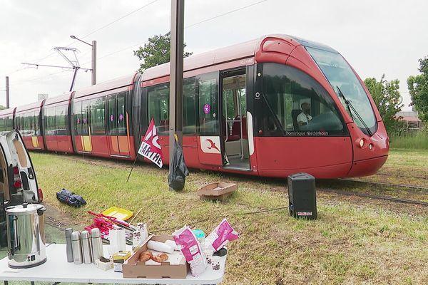 Grève des salariés de la Setram au Mans, 3 juin 2021