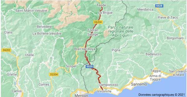 La Roya est un fleuve transfrontalier entre la France et l'Italie.