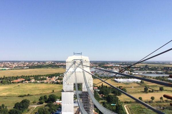 Le chantier du pont transbordeur de Rochefort