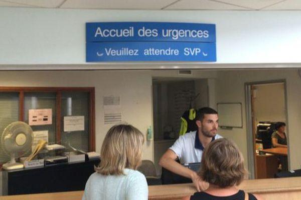 L'accueil aux urgences de l'hôpital de Girac à Angoulême.