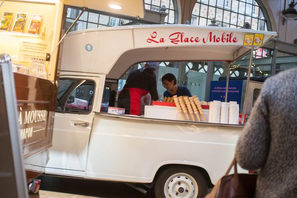 Foodtruck au Carreau du Temple à Paris. Le concept a désormais pignon sur rue en France..