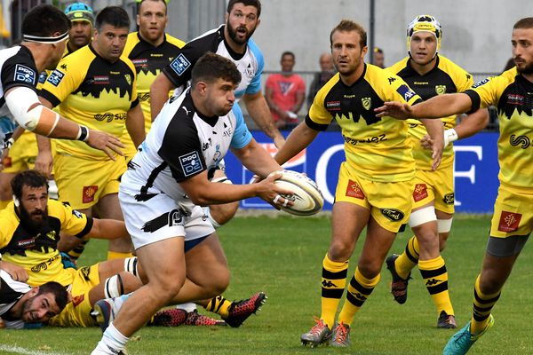 Les joueurs de Massy face à Carcassonne, le 18 août 2017.